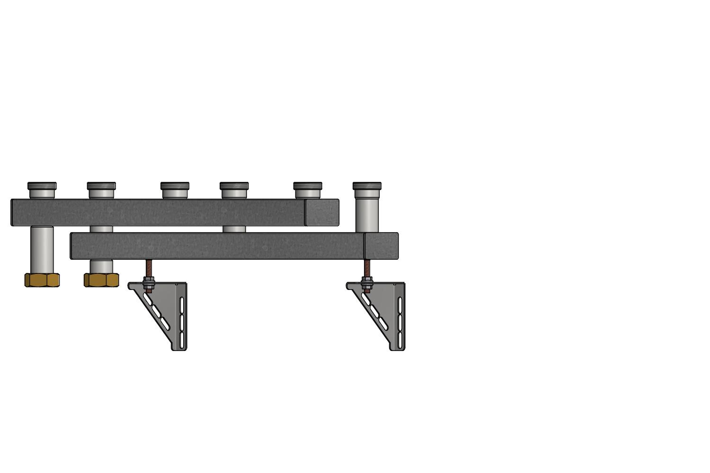 heizungsverteiler pewosplit qv40 3 fach. Black Bedroom Furniture Sets. Home Design Ideas